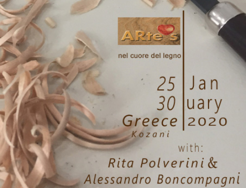 Woodsculpting workshop in Greece! Jan 2020